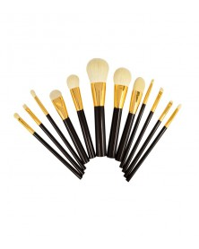 Set de brochas x12 black - gold